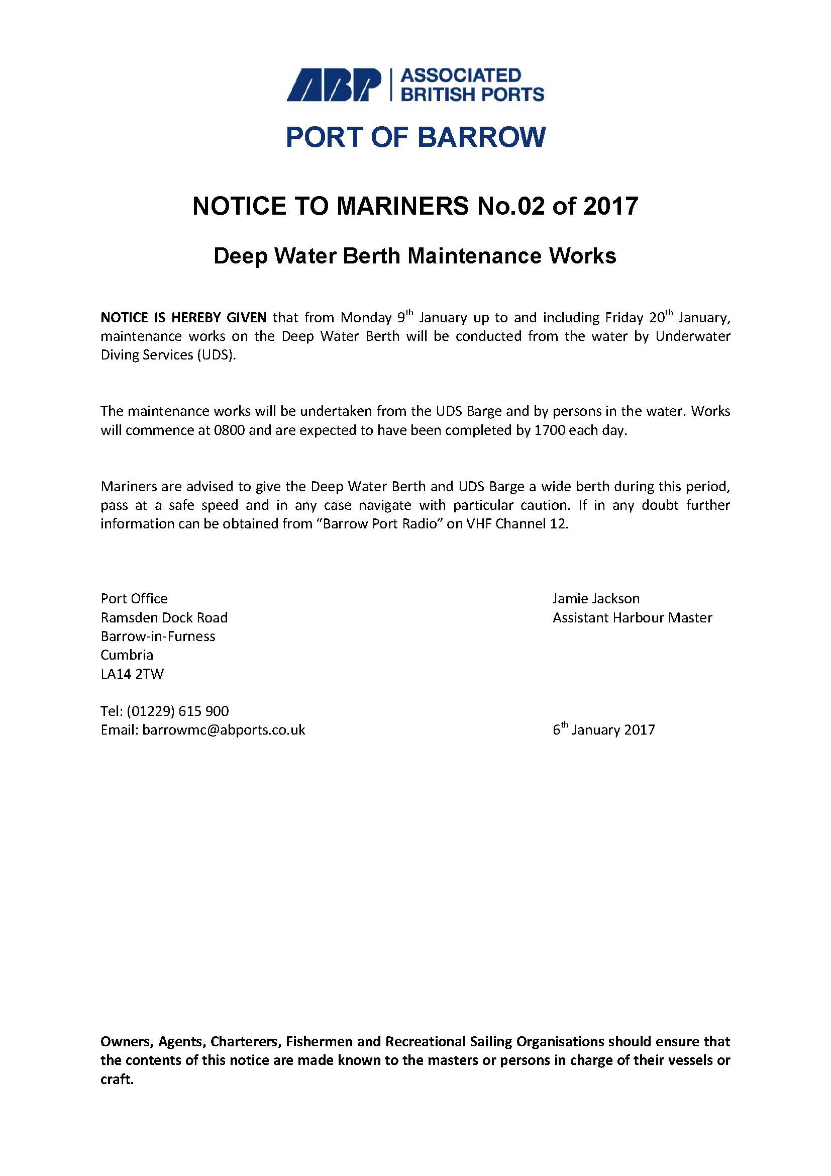 Notice to Mariners 2